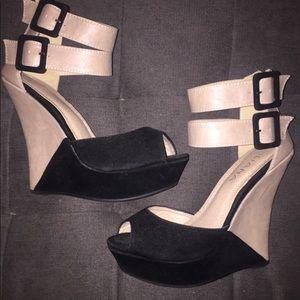 Like New wedge heels size 7
